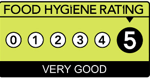 We're 5* Hygiene Rated!